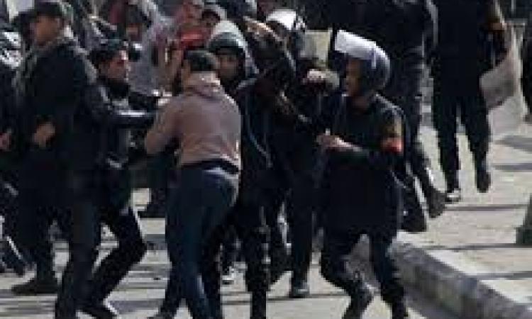 قوات الأمن تفرق مسيرات الإخوان بالفيوم