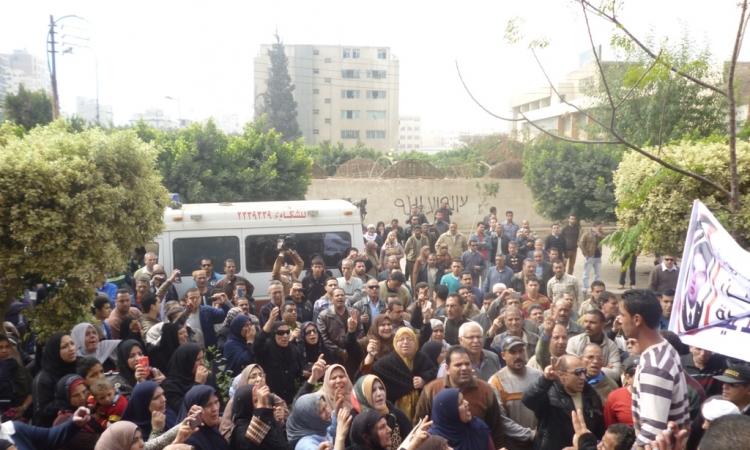بالصور.. تشييع جنازة شهيد قطاع الأمن الوطنى بالشرقية