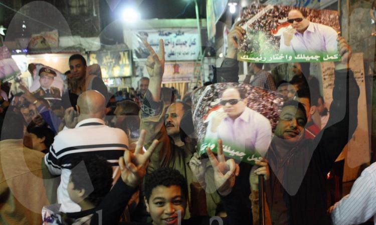 بالفيديو والصور … مواطنون يحتفلون بترشح السيسي للانتخابات الرئاسية