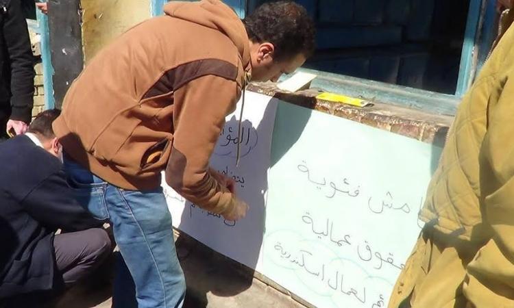 """عمال """"النقل العام"""" بالإسكندرية يفضون إضرابهم بعد تعهدات قائد المنطقة الشمالية"""