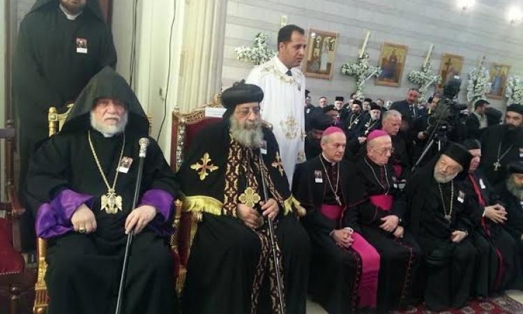 بدء مراسم جنازة بطريرك السريان الأرثوذكس في لبنان