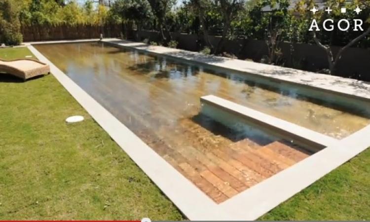 بالفيديو..أرض تتحول بتقنية جديدة إلى حمام سباحة
