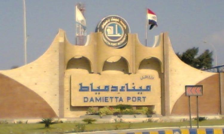 ميناء دمياط يستقبل 64 ألف طن ذرة و37 ألف طن سكر