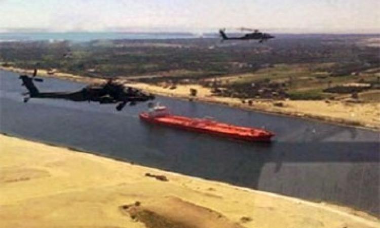 قوات مشتركة لتأمين ميادين السويس.. وتأمين القناة بالهليكوبتر