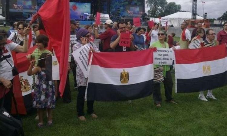 تظاهرات للجالية المصرية المسيحية بفرنسا للتنديد بالاعتداء على القوات المسلحة