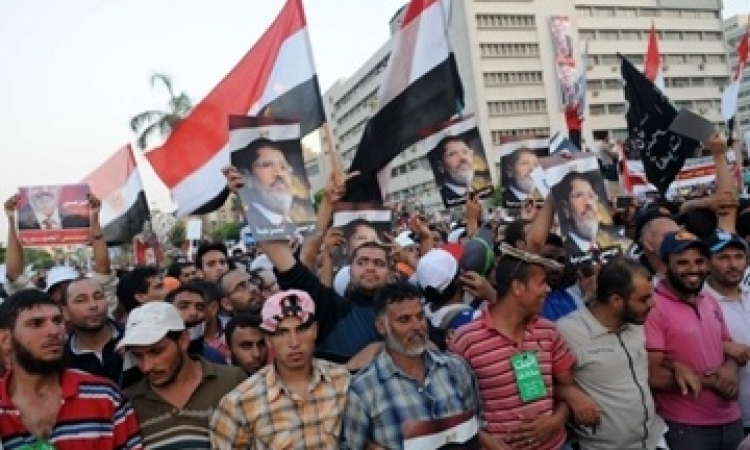 شلل مروري بالمطرية عقب مسيرات أنصار المعزول بميدان النعام