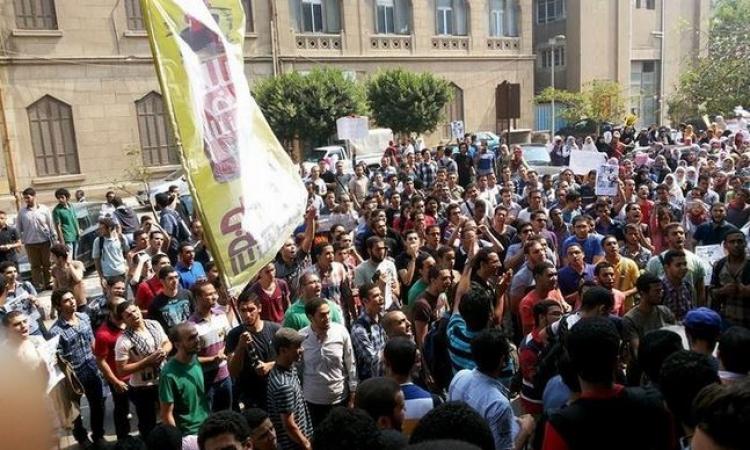 """مظاهرة لـ""""طلاب الإرهابية"""" بجامعة عين شمس"""