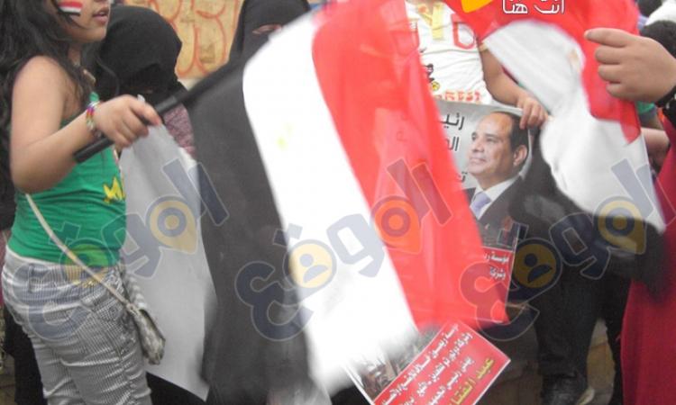 وسائل الإعلام الفلسطينية تنقل احتفالات المصريين بفوز السيسي
