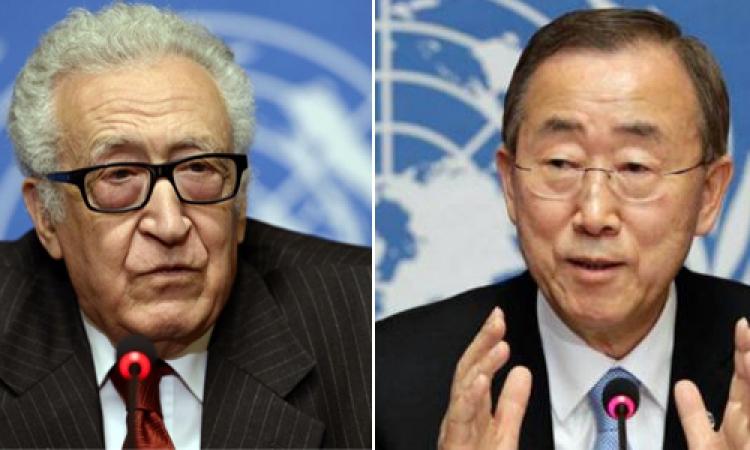 بان كي مون: «الإبراهيمي» يعتزم الاستقالة من منصب المبعوث الدولي لسوريا نهاية مايو