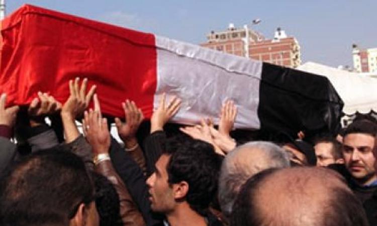 مدير أمن البحيرة وقيادات المحافظة يشاركون في تشييع جثمان شهيد حادث مدينة الأزهر الجامعية