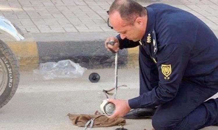 """إصابة ضابط أثناء تفجير خبراء المفرقعات """"عبوة ناسفة"""" بميدان الرماية"""