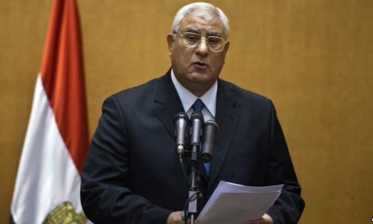 منصور: لن ترى مصر احتكاراً للوطن أو الدين بعد اليوم.. وعلى الرئيس القادم حسن اختيار معاونيه