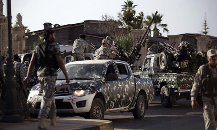 اشتباكات بين الجيش الليبى وفجر ليبيا غرب طرابلس