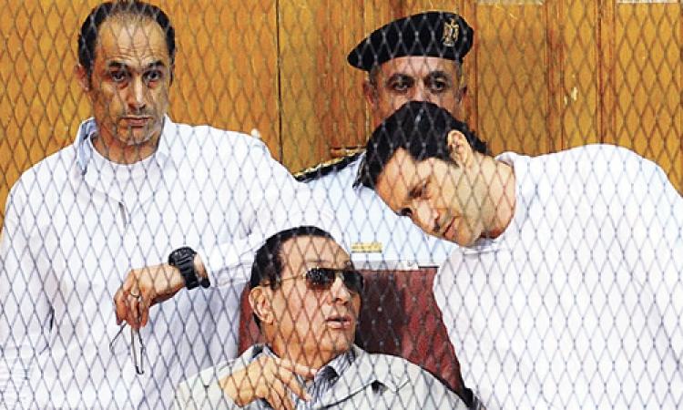 وصول مبارك أكاديمية الشرطة في محاكمة القرن
