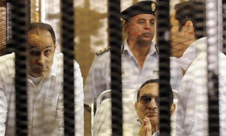 """السجن المشدد 3 سنوات لمبارك ونجليه فى """"القصور الرئاسية"""""""