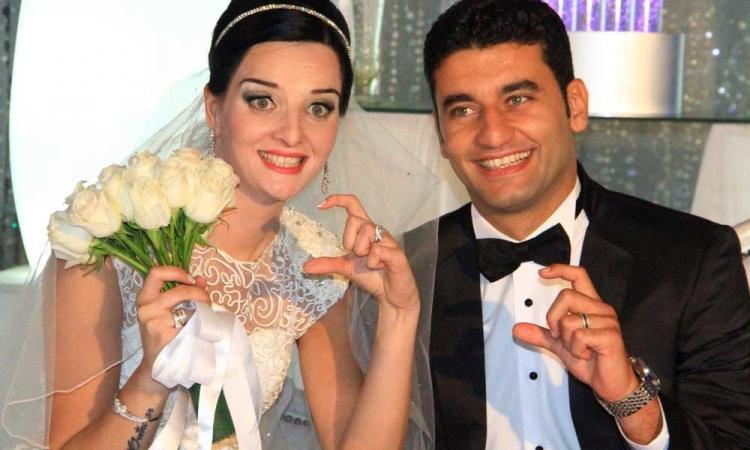 بالصور.. السيسي بحفل زفاف نجم الزمالك «أمير مجاهد»