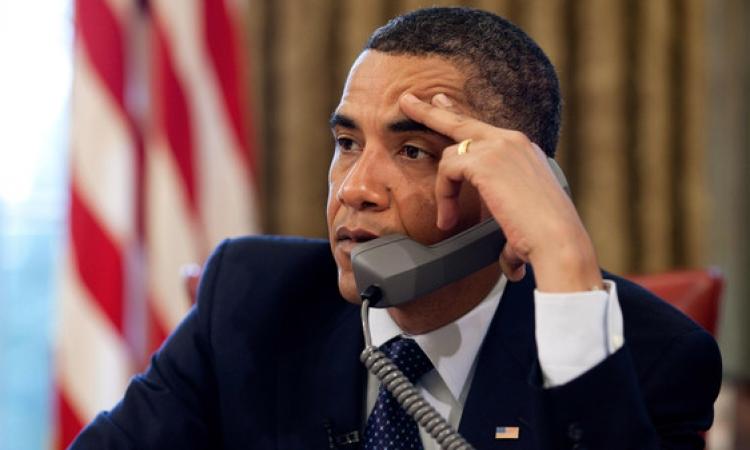الرئيس الامريكي أوباما يتصل هاتفيا بالرئيس السيسي لتهنئته برئاسة مصر