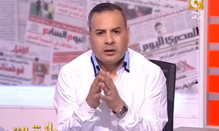 بالفيديو.. جابر القرموطي يظهر بـ«غربال» على الهواء لتقييم أداء الحكومة