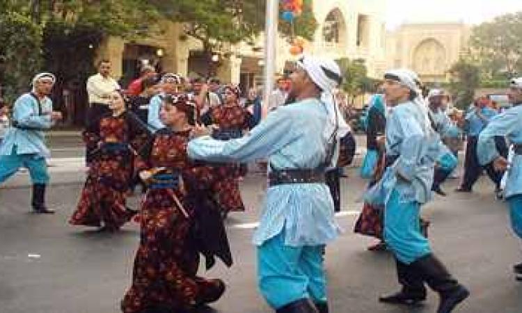 فرقة الفنون الشعبية السيناوية تمثل مصر في الأردن والهند