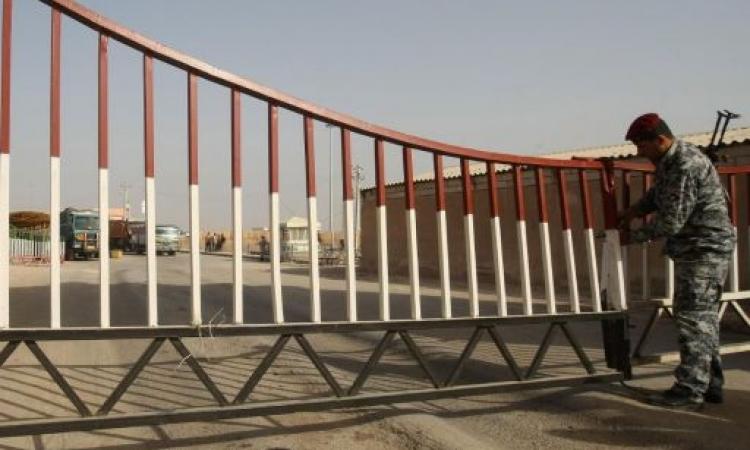 الأردن: توقف حركة المرور عبر الحدود العراقية