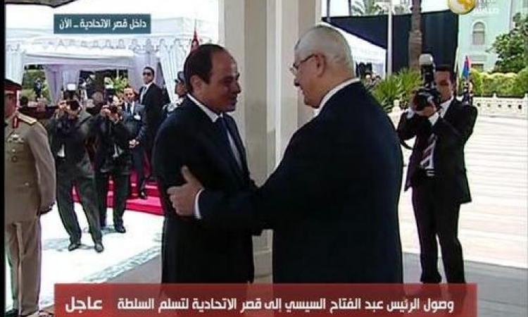 الوفود العربية والدولية تحضر حفل تسلم السيسي السلطة بقصر الاتحادية