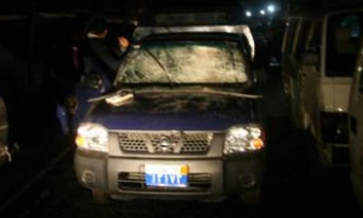 هجوم بالأسلحة الآلية على سيارة شرطة في الفيوم