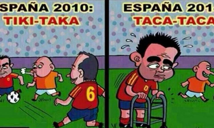 كاريكاتير.. التطور السلبي لـ«التيكي تاكا»