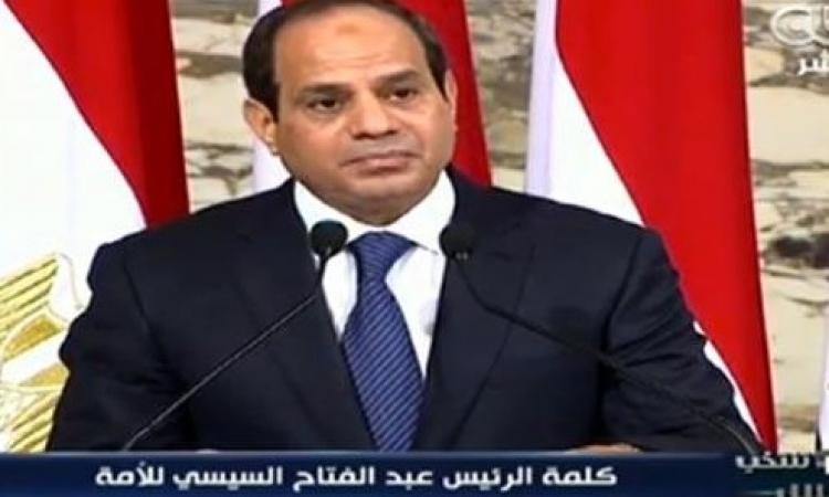 الرئيس السيسي يوجه برقية شكر لأمير قطر ردا على تهنئته بأداء اليمين