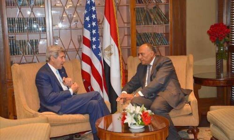 كيري يؤكد لشكري : مهتمون جدا بالتعاون مع القاهرة