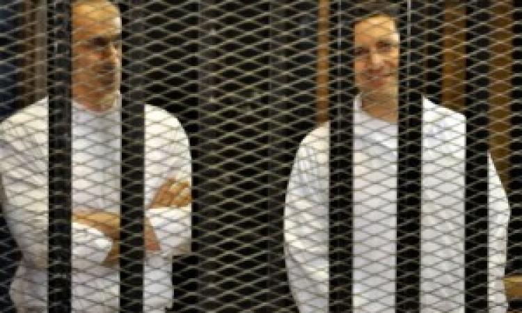 وصول جمال وعلاء مبارك لأكاديمية الشرطة لحضور جلسة محاكمتهم في قضية قتل المتظاهرين