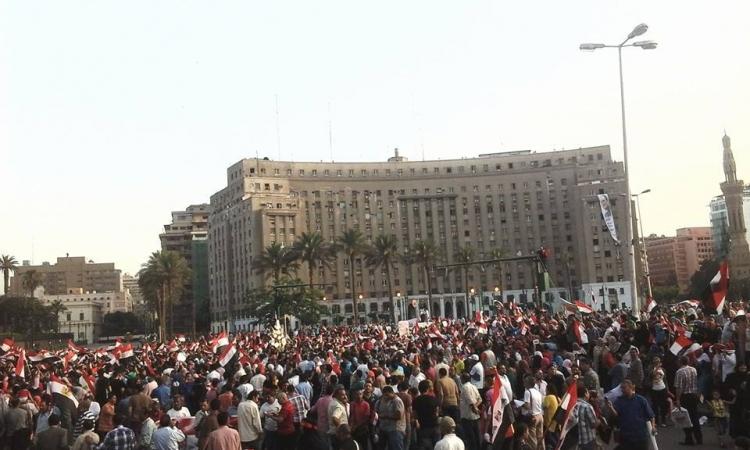 تزايد أعداد مؤيدى «السيسي» بميدان التحرير احتفالاً بنتيجة الانتخابات الرئاسية