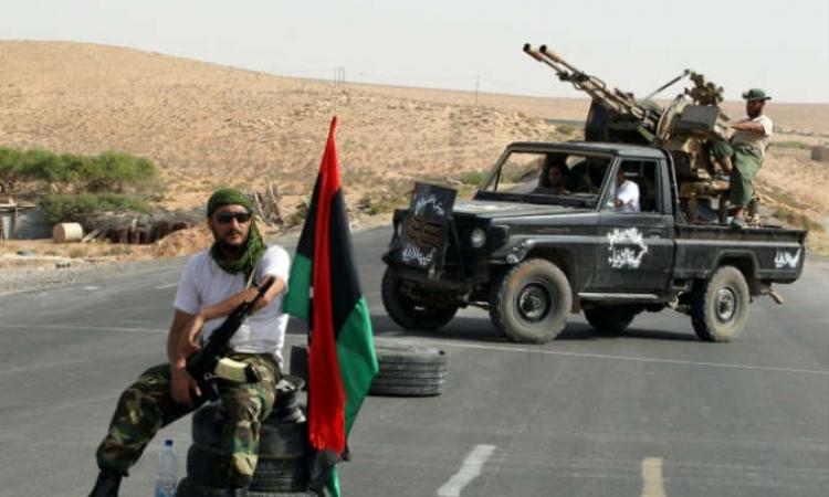 تفجير مبنى مديرية أمن بنغازي من قبل مسلحين تابعين لمجلس شورى بنغازي