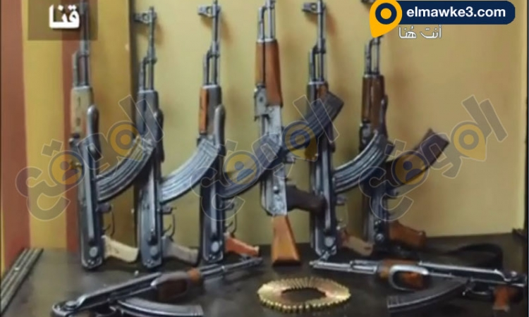 بالفيديو… ضبط عشر بنادق الية وفرد محلي الصنع بحملة أمنيه على قرية الحجيرات بقنا