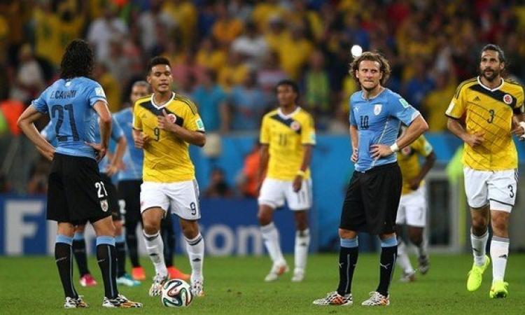 مبارة كولومبيا واورجواي