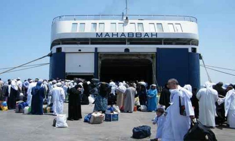 وصول 3750 راكبا مصريا من العاملين بدول الخليج إلى ميناء سفاجا