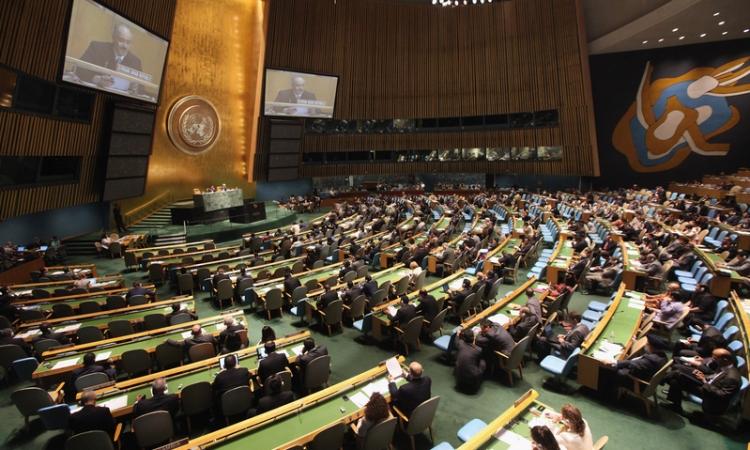 مندوب مصر بالأمم المتحدة يلقي بيان المجموعة الإسلامية حول مكافحة الإرهاب
