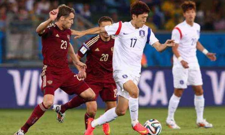 روسيا وكوريا الجنوبية تتعادلان 1-1 بالمونديال