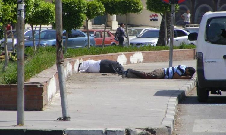 الموقع تنفرد بصور تفجيرات الاتحادية التى اسفرت عن سقوط شهيدين و13 مصابا