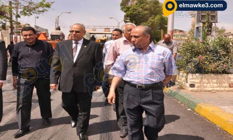 محافظ بني سويف يشارك في حملة تجميل ونظافة مدينة بني سويف