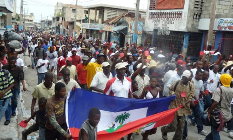 احتجاجات فى هاييتى تطالب الرئيس بالتنحى