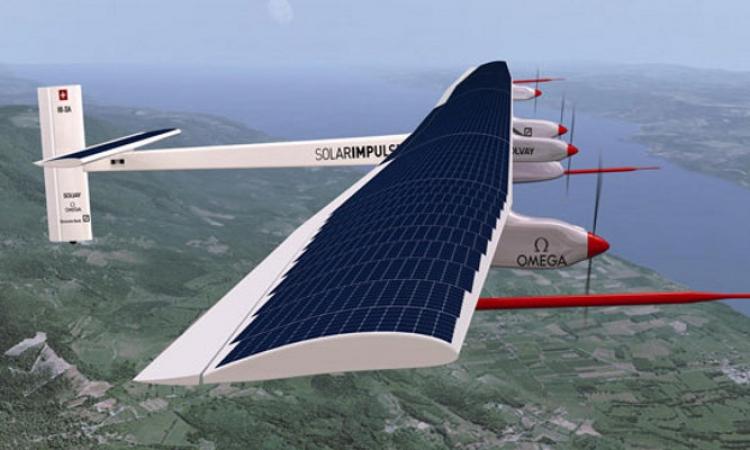 لأول مرة.. طائرة تعمل بالطاقة الشمسية