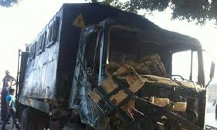 إصابة 21 مجندا بإصابات طفيفة في حادث انقلاب سيارة شرطة بالمنيا
