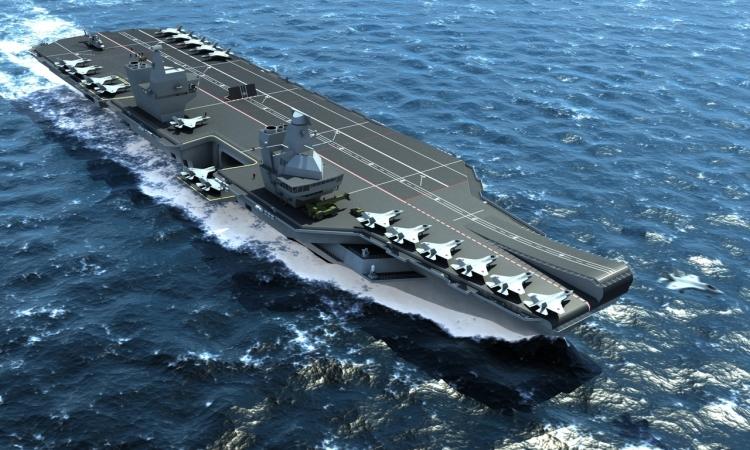 بريطانيا تدشن رسميا أكبر حاملة طائرات في البحرية الملكية