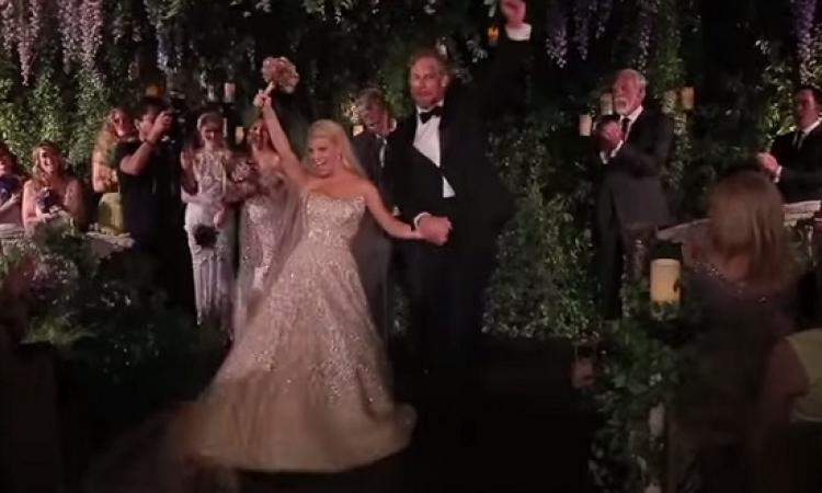 بالفيديو .. أول لقطات لزفاف جيسيكا سيمبسون وإيريك جونسون