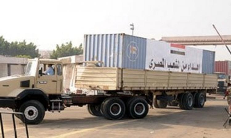 إدخال مساعدات مصرية إلى قطاع غزة