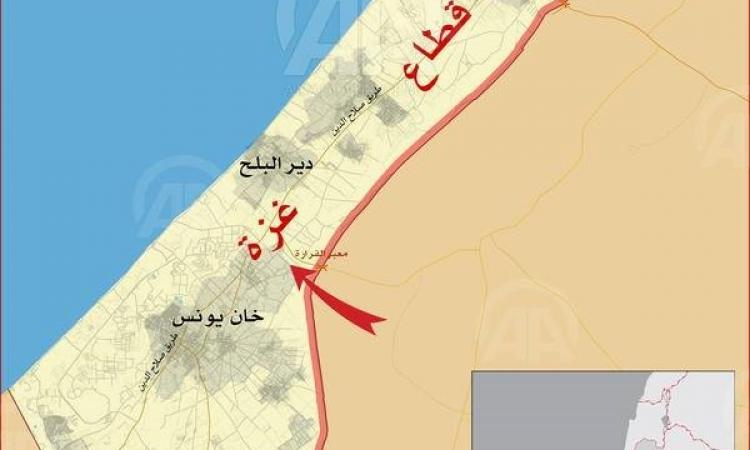 بالصورة.. مناطق التوغل البري العسكري الإسرائيلي في قطاع غزة