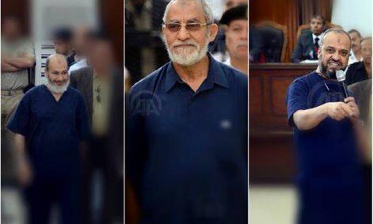 تأجيل محاكمة بديع والبلتاجي وحجازي وآخرين فى اقتحام قسم شرطة العرب لـ 24 أغسطس