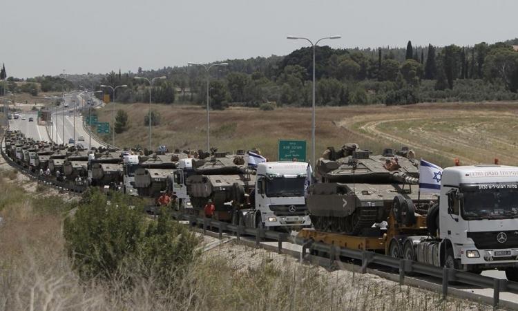 بالصور.. الجيش الاسرائيلى يقترب من ساعة الصفر لتنفيذ حملة برية واسعة في غزة