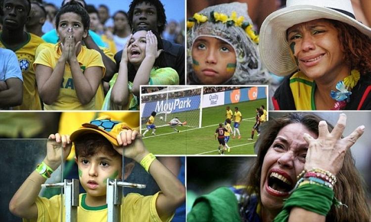 بالصور.. ليلة سقوط البرازيل أمام ألمانيا