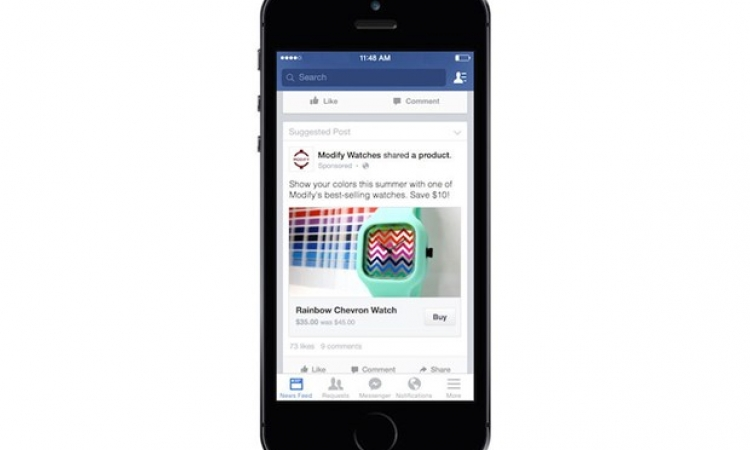 فيسبوك تختبر زراً لشراء المنتجات التى تعلن عنها مباشرة «BUY»